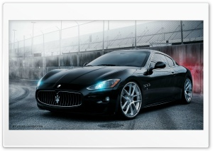 Maserati Black HD Wide Wallpaper for Widescreen