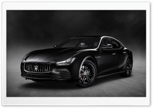 Maserati Ghibli Nerissimo Black Edition 2018 HD Wide Wallpaper for 4K UHD Widescreen desktop & smartphone