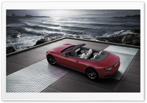 Maserati Grancabrio Red HD Wide Wallpaper for Widescreen