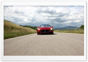 Maserati GranCabrio Sport On The Road HD Wide Wallpaper for Widescreen