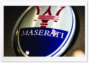 Maserati Logo Close-Up HD Wide Wallpaper for Widescreen