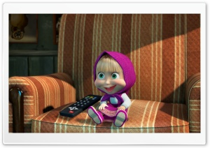 Masha And The Bear HD Wide Wallpaper for Widescreen