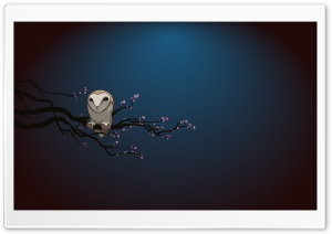 Masked Owl Vector Art HD Wide Wallpaper for Widescreen