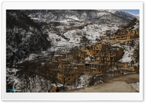 Masouleh Town, Iran - Winter HD Wide Wallpaper for Widescreen