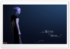 Mass Effect 2 Liara HD Wide Wallpaper for Widescreen