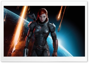 Mass Effect 3 Commander Shepard Female HD Wide Wallpaper for Widescreen