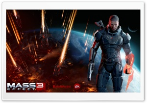 Mass Effect 3 Commander Shepard Male HD Wide Wallpaper for Widescreen