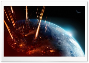 Mass Effect 3 Earth Attack HD Wide Wallpaper for Widescreen