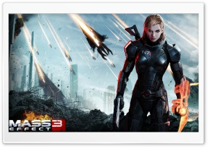 MASS EFFECT 3 FEMALE SHEPARD HD Wide Wallpaper for Widescreen