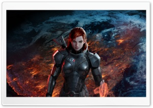 Mass Effect 3 FemShep HD Wide Wallpaper for Widescreen