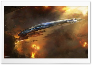 Mass Effect 3 Ship HD Wide Wallpaper for Widescreen