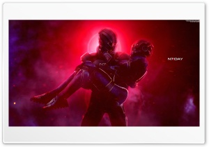 Mass Effect, Ashley and Shepard, Video Game Ultra HD Wallpaper for 4K UHD Widescreen desktop, tablet & smartphone