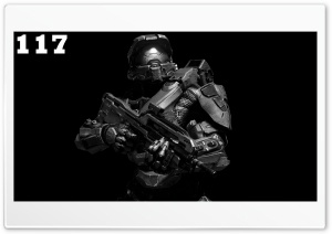 Master Chief BW HD Wide Wallpaper for Widescreen