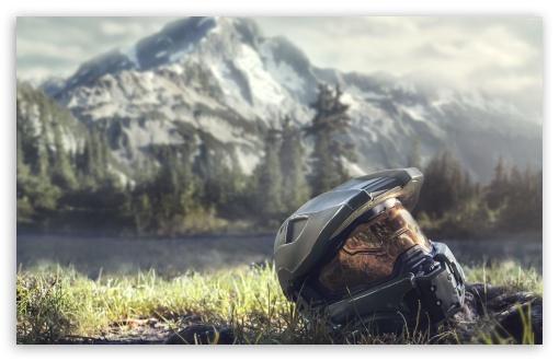 Download Master Chief Helmet UltraHD Wallpaper