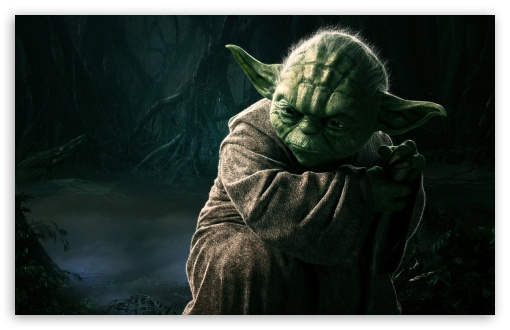 Master Yoda, Star Wars HD wallpaper for Standard 4:3 5:4 Fullscreen UXGA XGA SVGA QSXGA SXGA ; Wide 16:10 5:3 Widescreen WHXGA WQXGA WUXGA WXGA WGA ; HD 16:9 High Definition WQHD QWXGA 1080p 900p 720p QHD nHD ; Other 3:2 DVGA HVGA HQVGA devices ( Apple PowerBook G4 iPhone 4 3G 3GS iPod Touch ) ; Mobile VGA WVGA iPhone iPad PSP Phone - VGA QVGA Smartphone ( PocketPC GPS iPod Zune BlackBerry HTC Samsung LG Nokia Eten Asus ) WVGA WQVGA Smartphone ( HTC Samsung Sony Ericsson LG Vertu MIO ) HVGA Smartphone ( Apple iPhone iPod BlackBerry HTC Samsung Nokia ) Sony PSP Zune HD Zen ; Tablet 2 ;