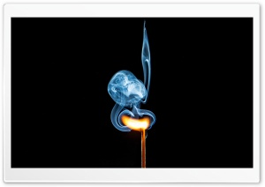 Matchstick Burning, Blue Smoke HD Wide Wallpaper for 4K UHD Widescreen desktop & smartphone