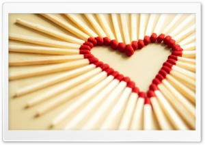 Matchsticks Heart HD Wide Wallpaper for Widescreen