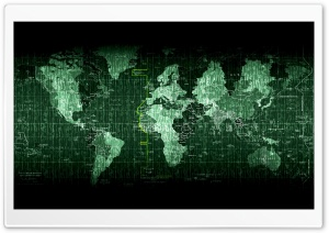 Matrix World Map HD Wide Wallpaper for Widescreen