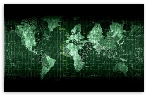 Matrix Code World Map ❤ 4K HD Desktop Wallpaper for 4K ...