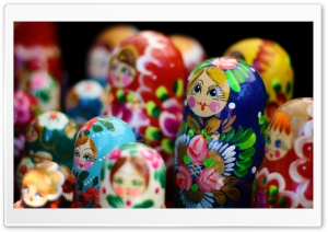 Matryoshka Dolls HD Wide Wallpaper for Widescreen