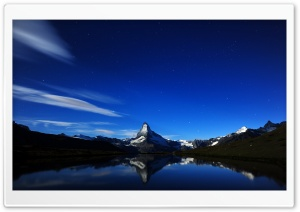 Matterhorn At Night HD Wide Wallpaper for Widescreen