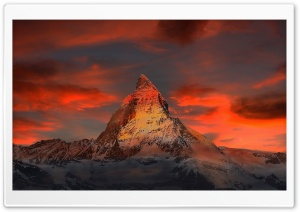 Matterhorn mountain, Alps, Switzerland HD Wide Wallpaper for Widescreen
