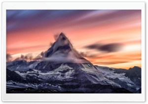 Matterhorn mountain at Sunset HD Wide Wallpaper for 4K UHD Widescreen desktop & smartphone