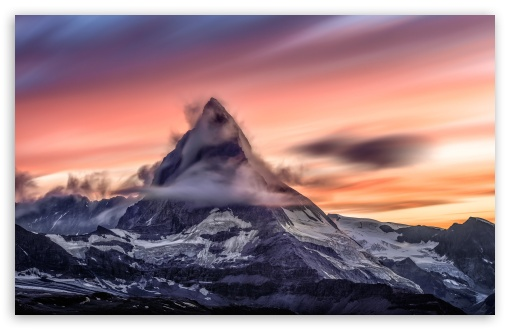 matterhorn mountain at sunset wallpapers
