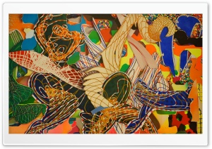 Maxon's Island By Frank Stella HD Wide Wallpaper for Widescreen