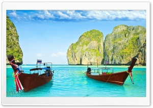 Maya Bay, Thailand HD Wide Wallpaper for 4K UHD Widescreen desktop & smartphone