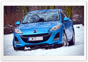 Mazda 3 - Winter Time HD Wide Wallpaper for 4K UHD Widescreen desktop & smartphone