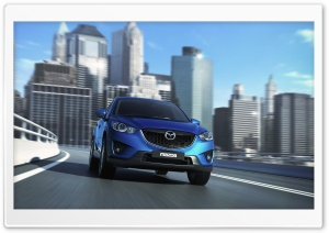 Mazda CX5 Blue HD Wide Wallpaper for Widescreen