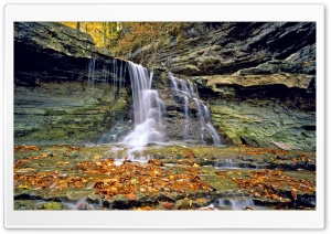 McCormicks Creek State Park In Autumn, Indiana HD Wide Wallpaper for 4K UHD Widescreen desktop & smartphone