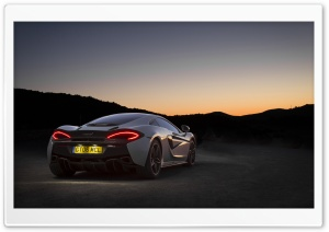 McLaren 570GT rear view HD Wide Wallpaper for 4K UHD Widescreen desktop & smartphone