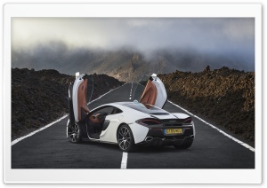 McLaren 570GT White HD Wide Wallpaper for Widescreen