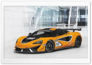 McLaren 570S GT4 2016 HD Wide Wallpaper for Widescreen