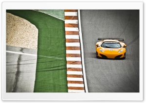 McLaren MP4 12C Yellow HD Wide Wallpaper for Widescreen