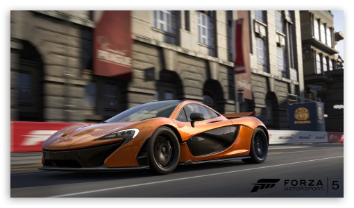 McLaren P1 - Forza Motorsport 5 HD wallpaper for HD 16:9 High Definition WQHD QWXGA 1080p 900p 720p QHD nHD ; Mobile 16:9 - WQHD QWXGA 1080p 900p 720p QHD nHD ;