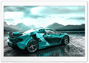 McLaren P1 Blue HD Wide Wallpaper for Widescreen