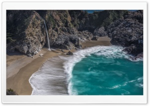 McWay Falls at Julia Pfeiffer Burns State Park, California HD Wide Wallpaper for Widescreen