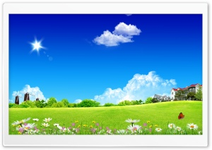 Meadow Skyscapes HD Wide Wallpaper for Widescreen