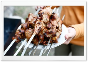 Meat Skewers HD Wide Wallpaper for Widescreen