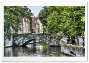 Meestraat Bridge in Bruges HD Wide Wallpaper for Widescreen