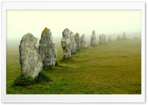 Megalithic Stones Of Lagatjar, France HD Wide Wallpaper for Widescreen