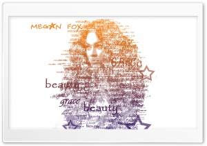 Megan Fox Typography HD Wide Wallpaper for Widescreen