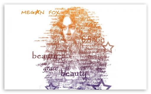 Megan Fox Typography HD wallpaper for Wide 5:3 Widescreen WGA ; HD 16:9 High Definition WQHD QWXGA 1080p 900p 720p QHD nHD ; Standard 4:3 Fullscreen UXGA XGA SVGA ; iPad 1/2/Mini ; Mobile 4:3 5:3 16:9 - UXGA XGA SVGA WGA WQHD QWXGA 1080p 900p 720p QHD nHD ;