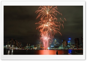 Melbourne Fireworks HD Wide Wallpaper for Widescreen