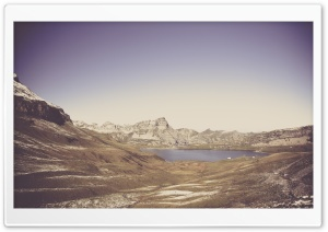 Melchsee Frutt, Switzerland, Vintage HD Wide Wallpaper for Widescreen