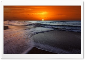 Memorable Sunset Beach HD Wide Wallpaper for Widescreen