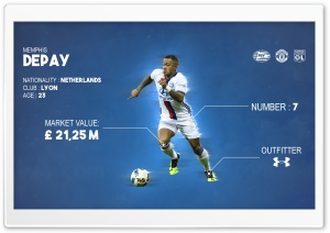 Memphis Depay HD Wide Wallpaper for Widescreen